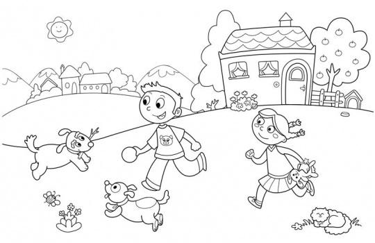 الگوی نقاشی کودکان ۱۰