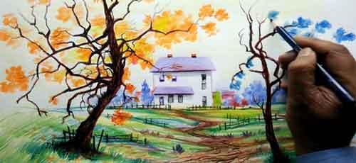 نقاشی-منظره-پاییزی۵۵
