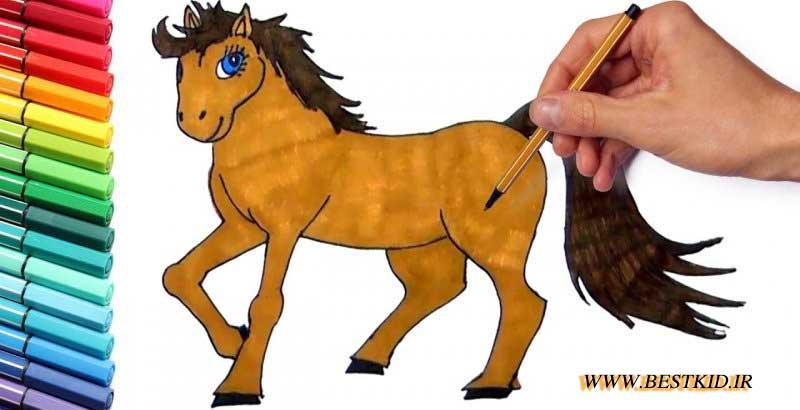 نقاشی اسب