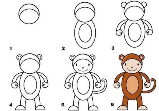 نقاشی-میمون۱