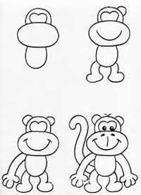 نقاشی-میمون۲