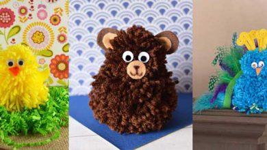 تصویر از آموزش تصویری ۳ کاردستی خلاقانه عروسکی با نخ و کاموا (ویژه کودکان)