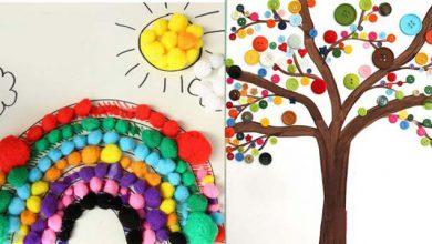 تصویر از آموزش تصویری ۲ کاردستی خلاقانه با لوازم بافتنی ساده و دکمه (ویژه کودکان)