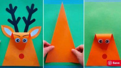 تصویر از ۱۴ کاردستی با کاغذ رنگی (آموزش تصویری)